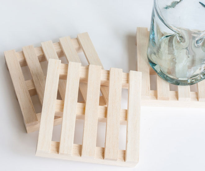 DIY fathers day gift pallet coaster