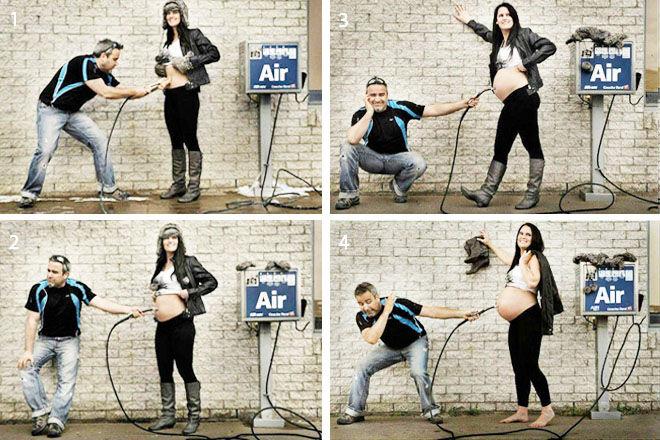 Recording Pregnancy Memories - Funny Photo of Bump