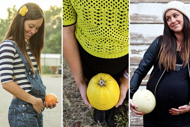 Pregnancy week by week photo record fruit
