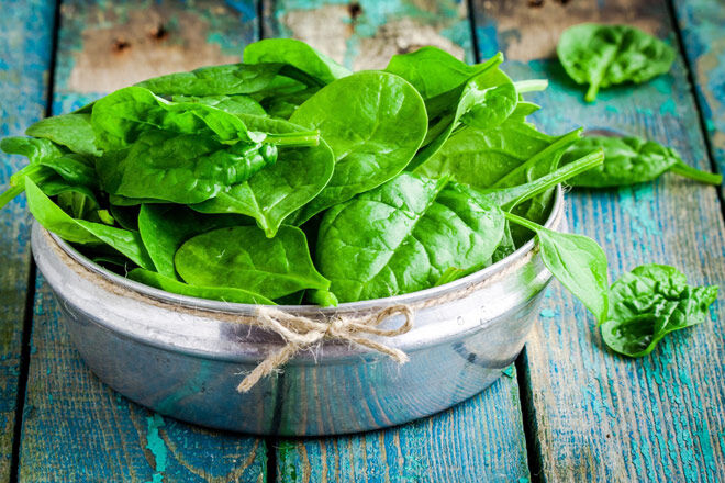 nutrients for kids spinach iron