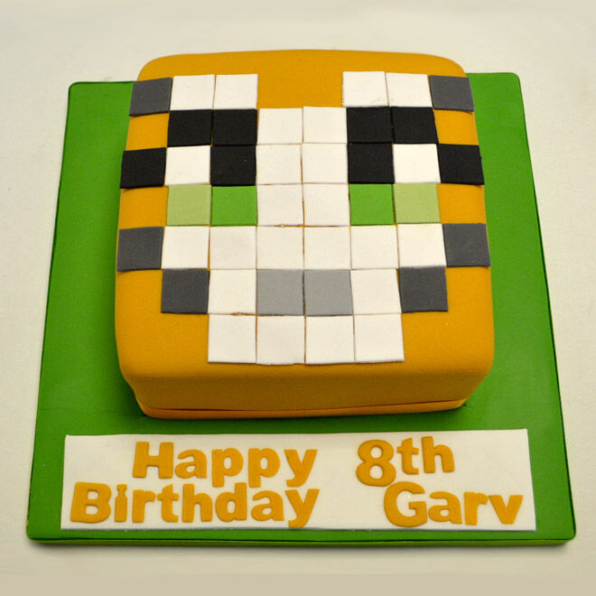 minecraft video game cake birthday