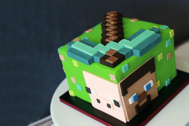 Minecraft Cookie Cake Designs
