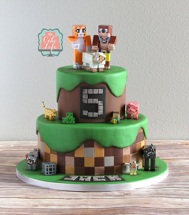 minecraft cake birthday kids