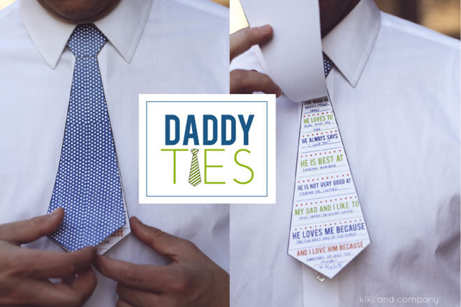 DIY fathers day gift paper tie