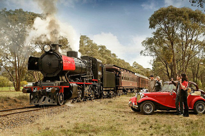 castlemaine victoria kid train steam rail family