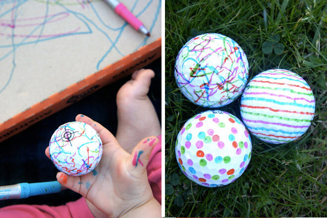 DIY fathers day gift golf balls