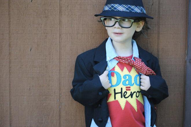 Fathers day photos dad hero tshirt