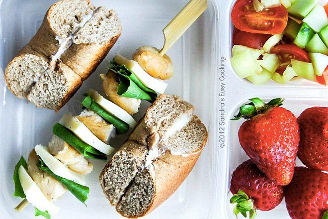 No sandwich lunch ideas kids chicken