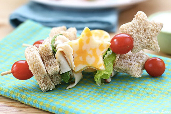 No sandwich lunch ideas kids shapes