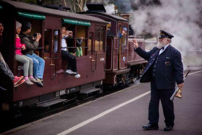 steam rail railway kids family victoria