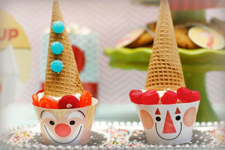 circus cupcakes party food ideas