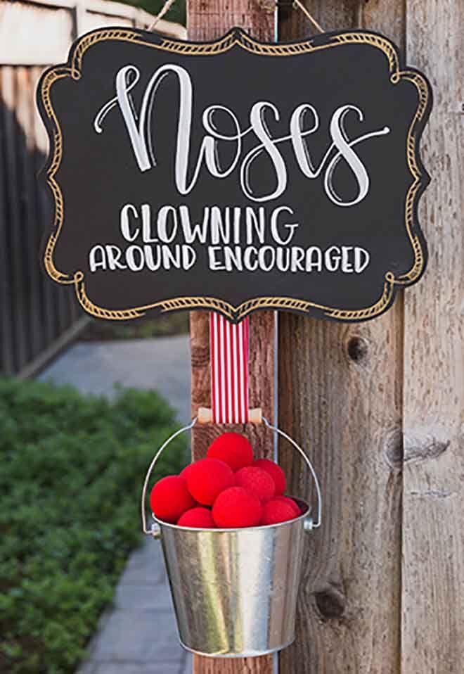 circus party clown noses