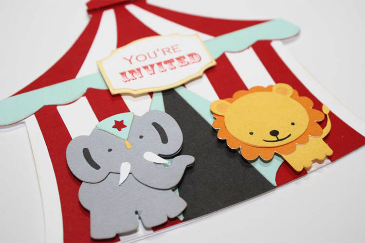 circus birthday party invitation idea