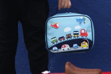 Bobble art insulated lunch bag cars travel