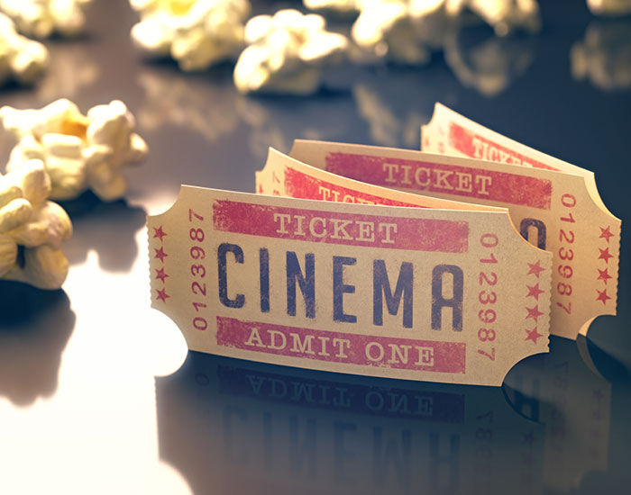 cheap movie tickets and popcorn