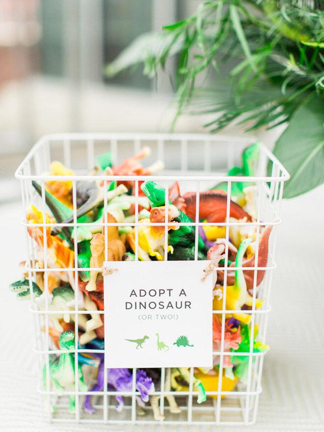 Dinosaur party favours, adopt a dinosaur