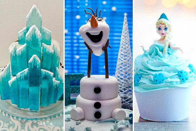 cake birthday olaf anna elsa