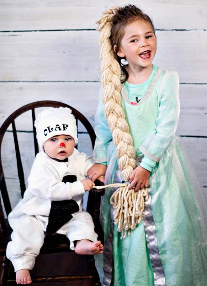 Halloween elsa olaf kids baby
