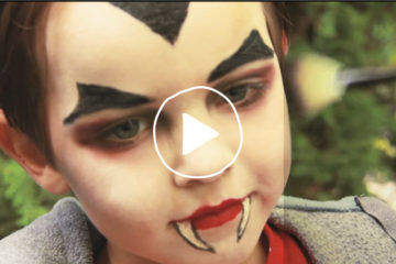 DIY Dracula face painting