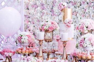 celebrity christening floral decoration