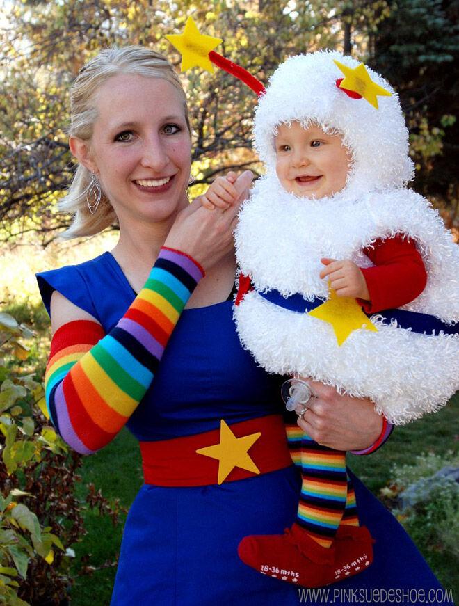 Halloween colour baby mum
