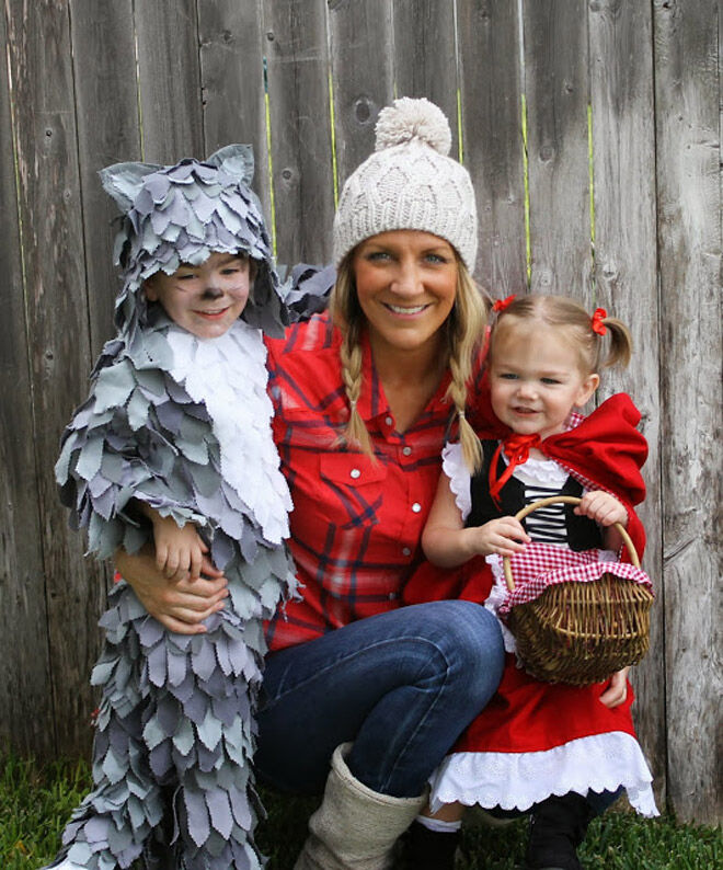 Halloween kids wolf little fairytale
