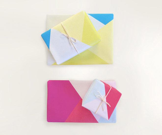 Printable gift wrap wrapping paper geometris