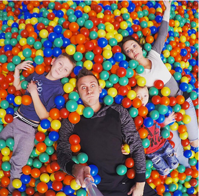 Roman Atwood balls in house prank