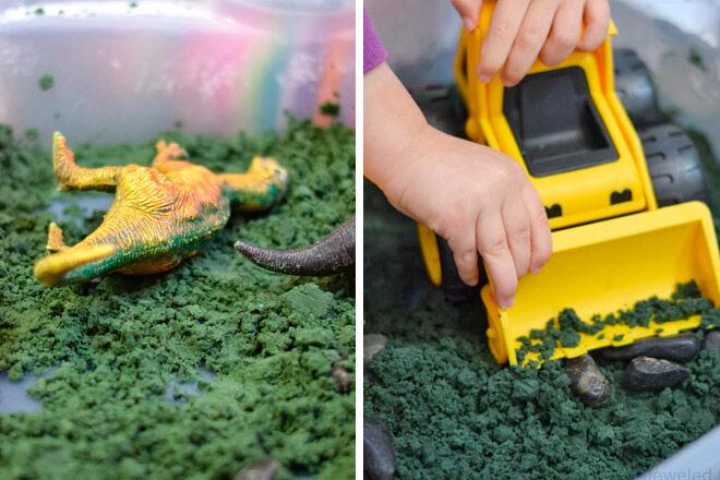 play sensory digger kids homemade