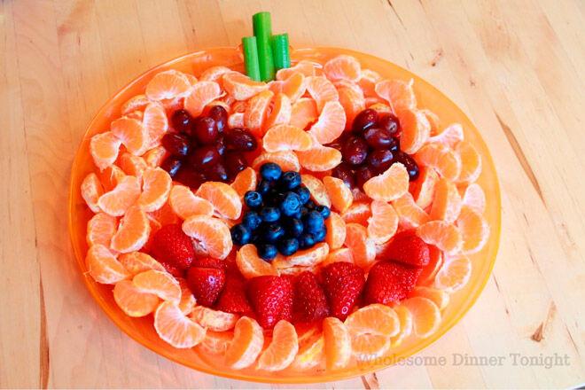 Halloween healthy food veggies