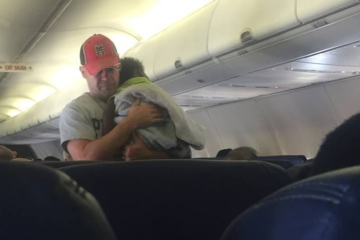 Random act of kindness by one dad on a plane