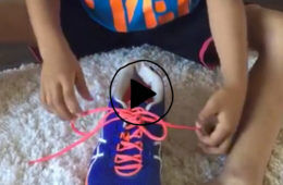 Easy Shoelace tying technique