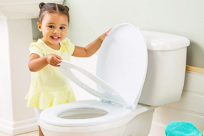 Childcare 2-in-1 toilet training seat