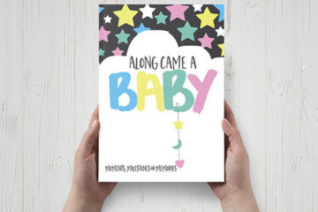 baby milestone keepsake book