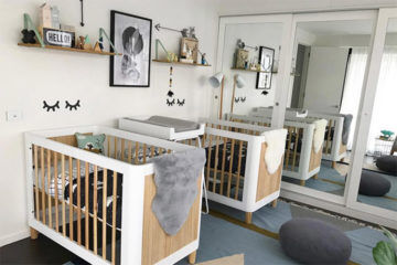 Twins Scandi Nursery Design