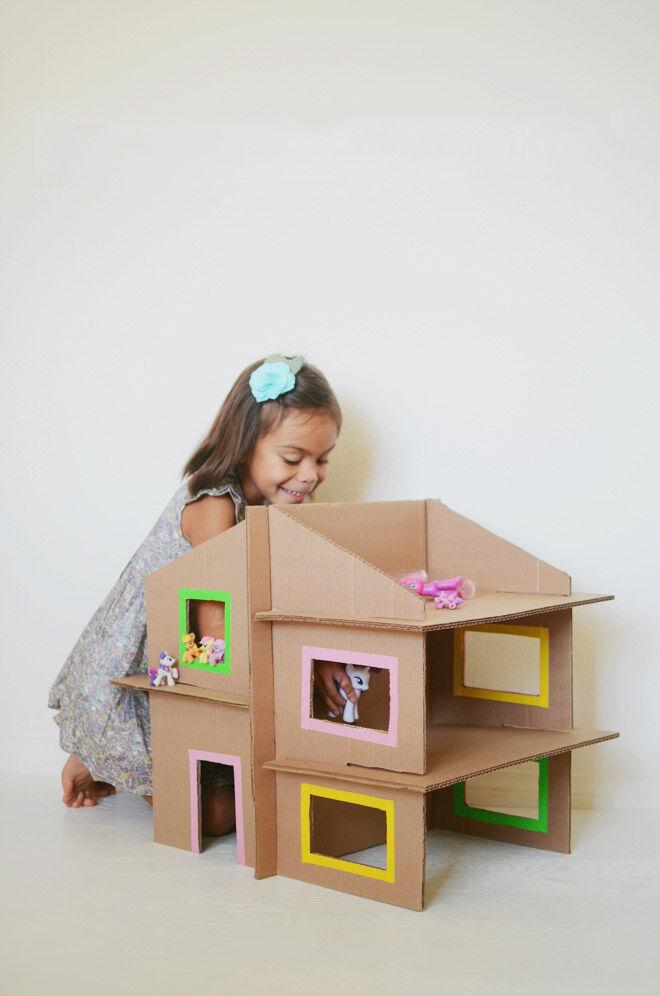 DIY cardboard doll house