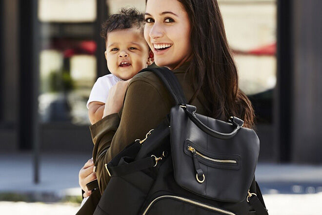 Round up nappy backpack bags