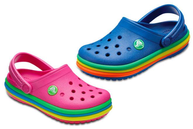 Kids Crocs Rainbow Band Clog