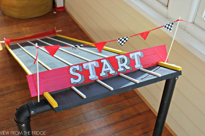 Kids racing track for cars