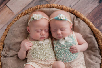 Two twin babies