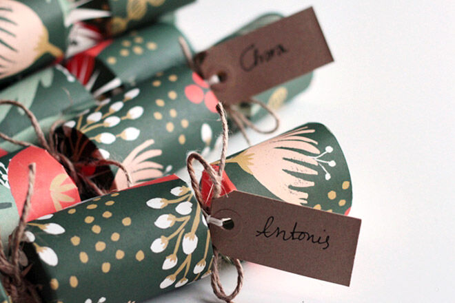 Homemade christmas crackers gift ideas
