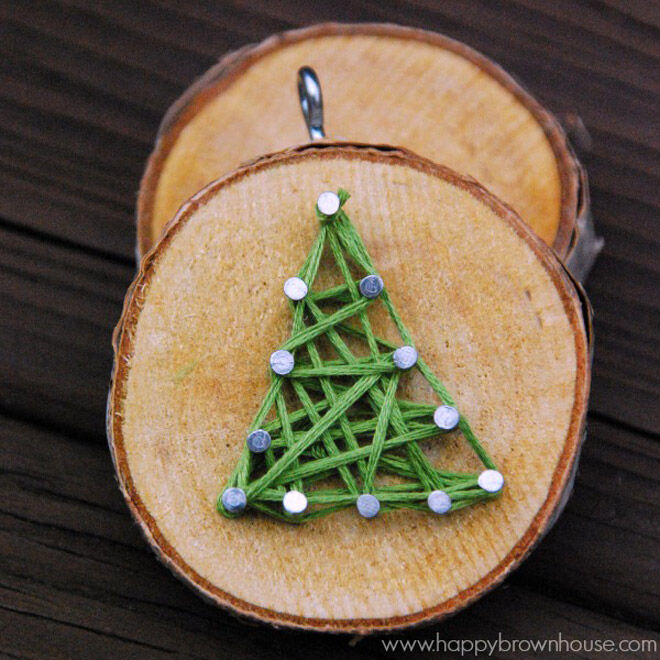 Christmas tree string art