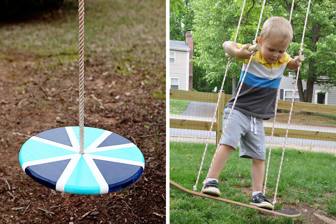 how to make a backyard swing
