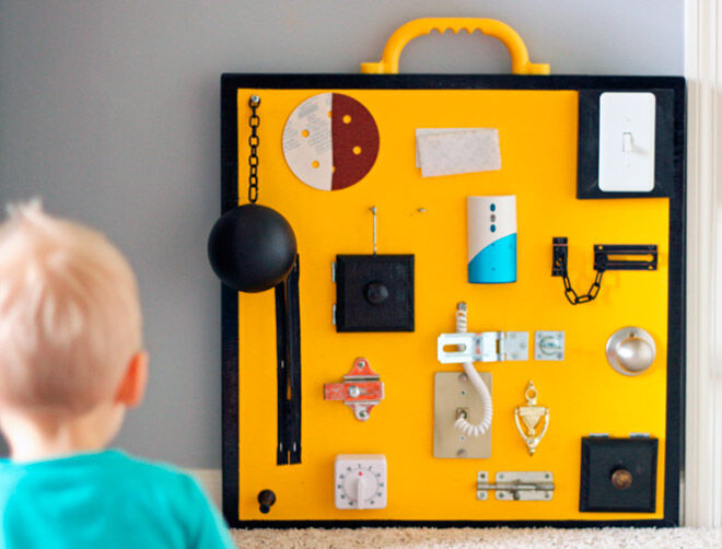 17 DIY busy boards for active toddlers | Mum\'s Grapevine
