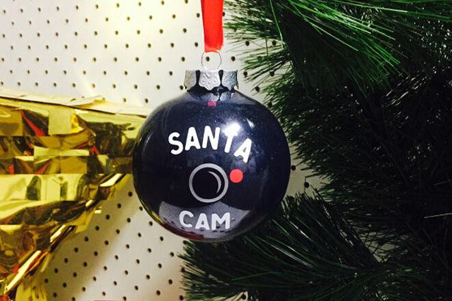 Santa Cam decorations