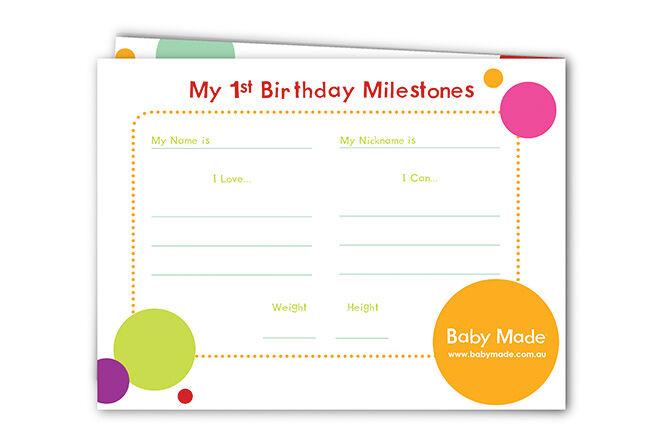 My 1st Birthday Milestones