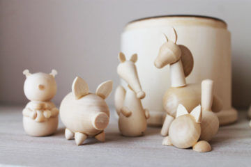 Wooden animals by etsy seller craft paper wood shop