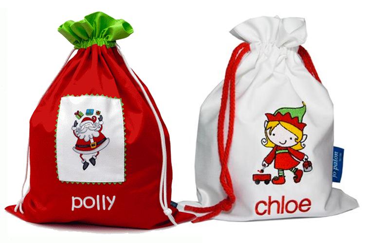 Iddy Biddy Boo Personalised sacks