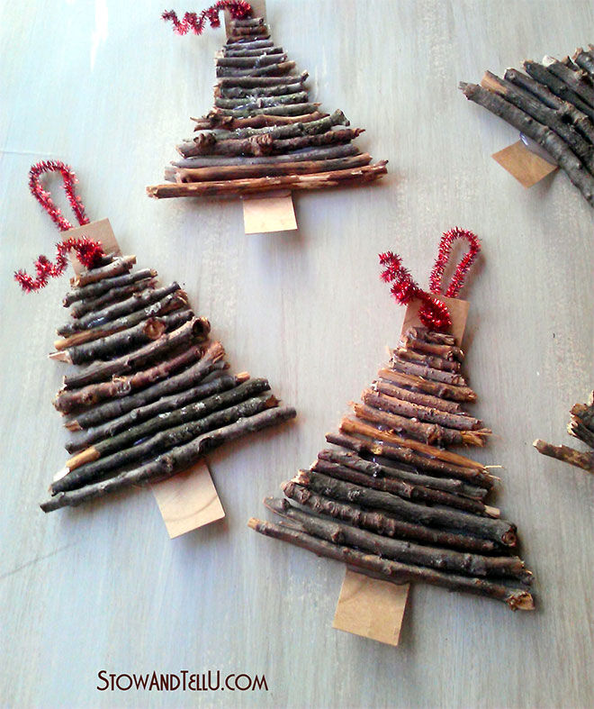 Stow & Tell Christmas tree decorations