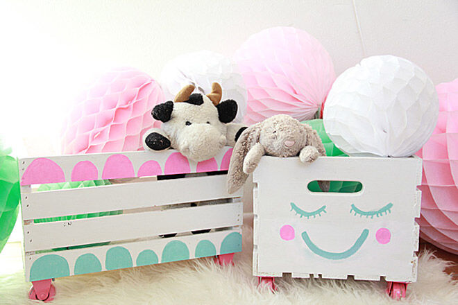 a bubbly life toy crate toddler